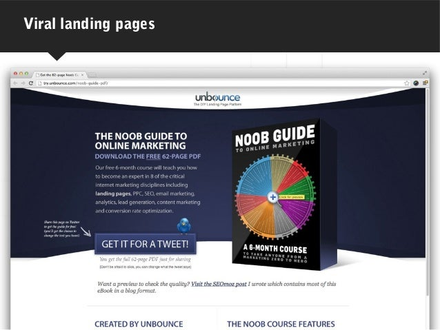 Viral landing pages