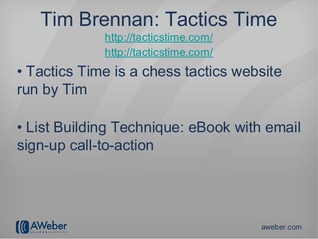 Tim Brennan: Tactics Time             http://tacticstime.com/             http://tacticstime.com/• Tactics Time is a chess...
