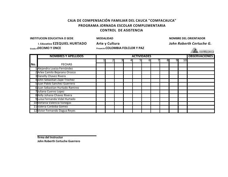 List. comfa 2011 jrc