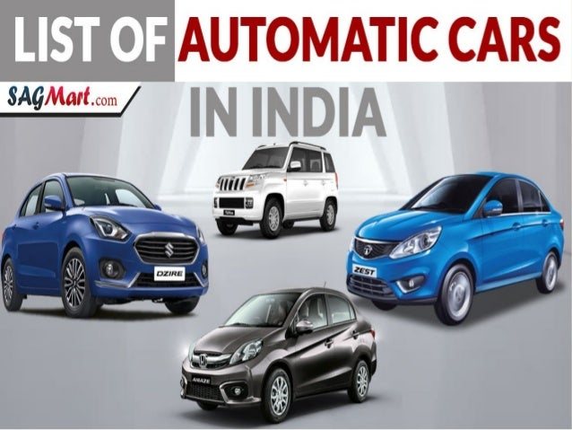 List Of Cars >> Find New List Of Automatic Cars In India