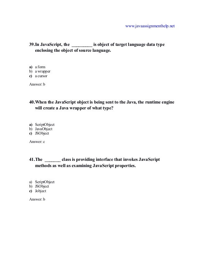 javascript multiple choice questions and answers pdf