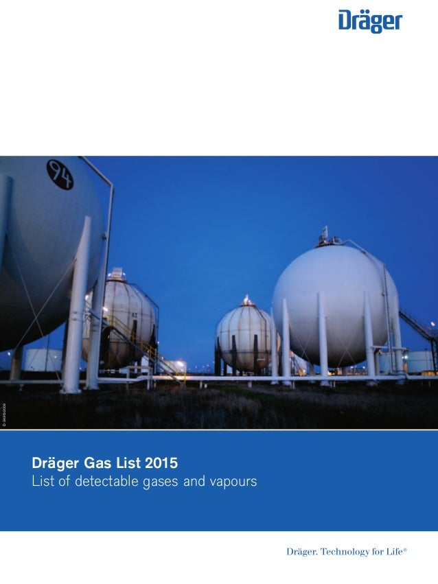Dräger Gas List 2015 List of detectable gases and vapours D-34313-2009