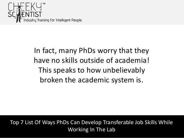 transferable skills list for jobs