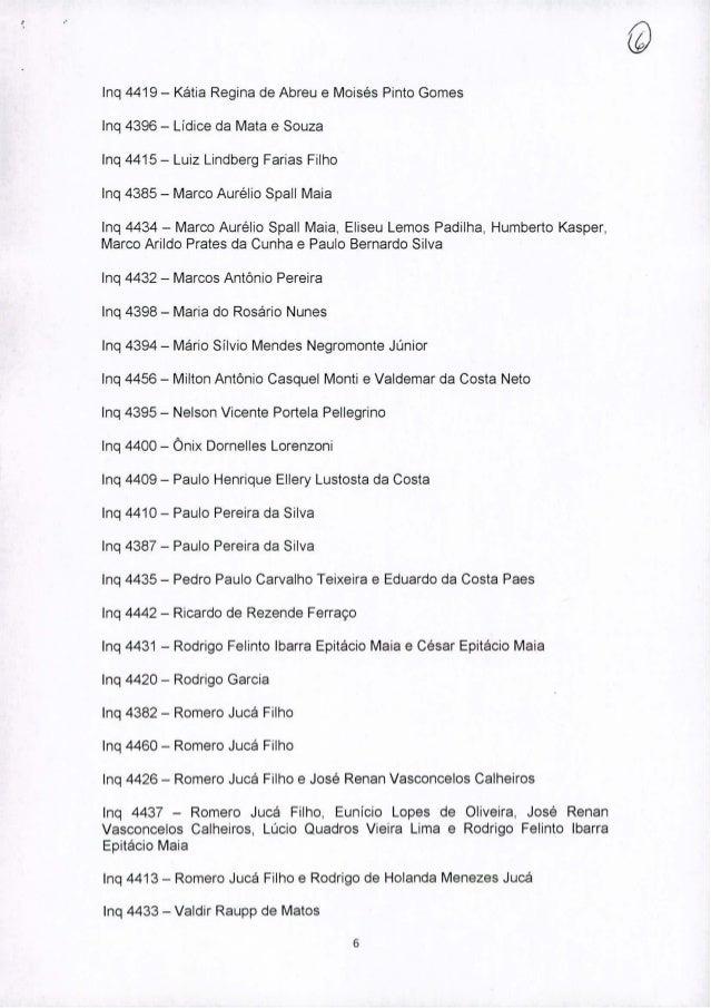 Inq 4419 - Kátia Regina de Abreu e Moisés Pinto Gomes Inq 4396 - Lídice da Mata e Souza Inq 4415 - Luiz Lindberg Farias Fi...