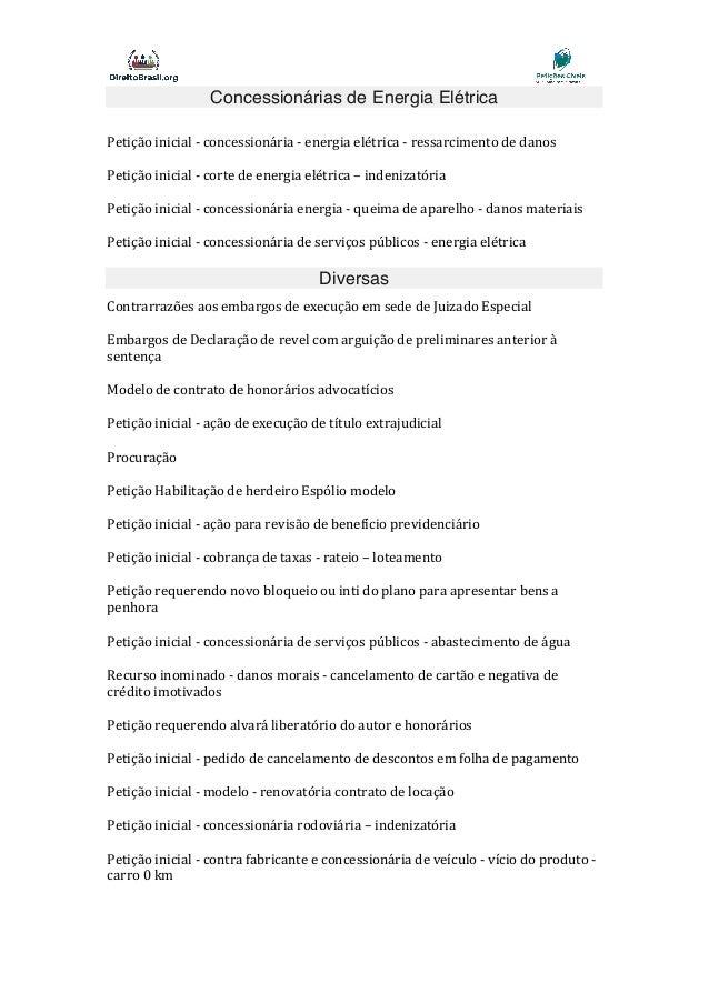 Lista De Petições Cíveis Novo Cpc Completa