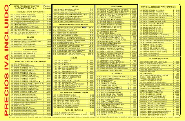 Lista de-precios-compugreiff-agosto-28-2013 Slide 2