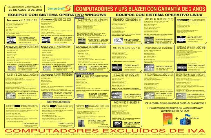 Lista de-precios-compugreiff-agosto-29-2012