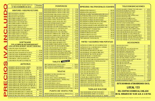 Lista de-precios-compugreiff-diciembre-07-2012 Slide 2