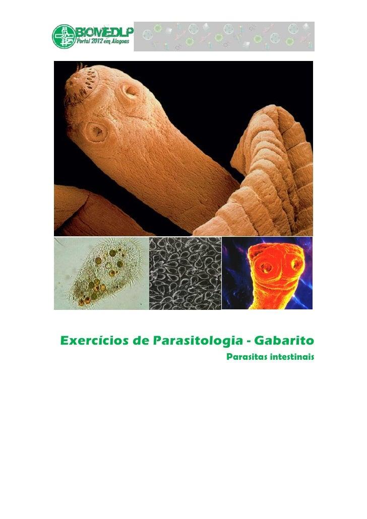 Exercícios de Parasitologia - Gabarito                        Parasitas intestinais