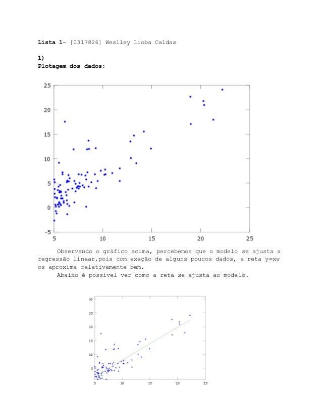 Lista1[0317826]WeslleyLiobaCaldas  1) Plotagemdosdados:   Observandoográficoacima,percebemosqueomodel...