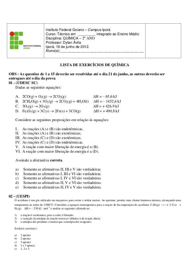 Instituto Federal Goiano – Campus Iporá                               Curso: Técnico em _________ integrado ao Ensino Médi...