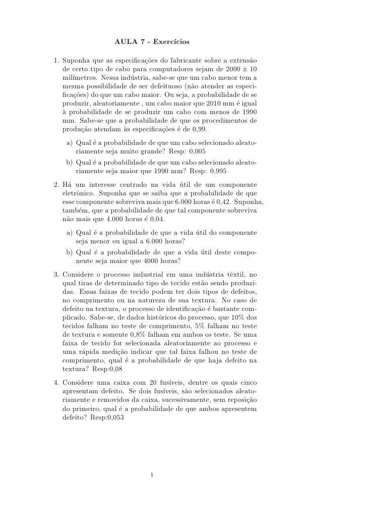 Lista 5   modelos de probabilidade