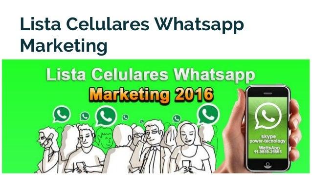 Lista Celulares Whatsapp Marketing Alcance Seu Alvo Publico