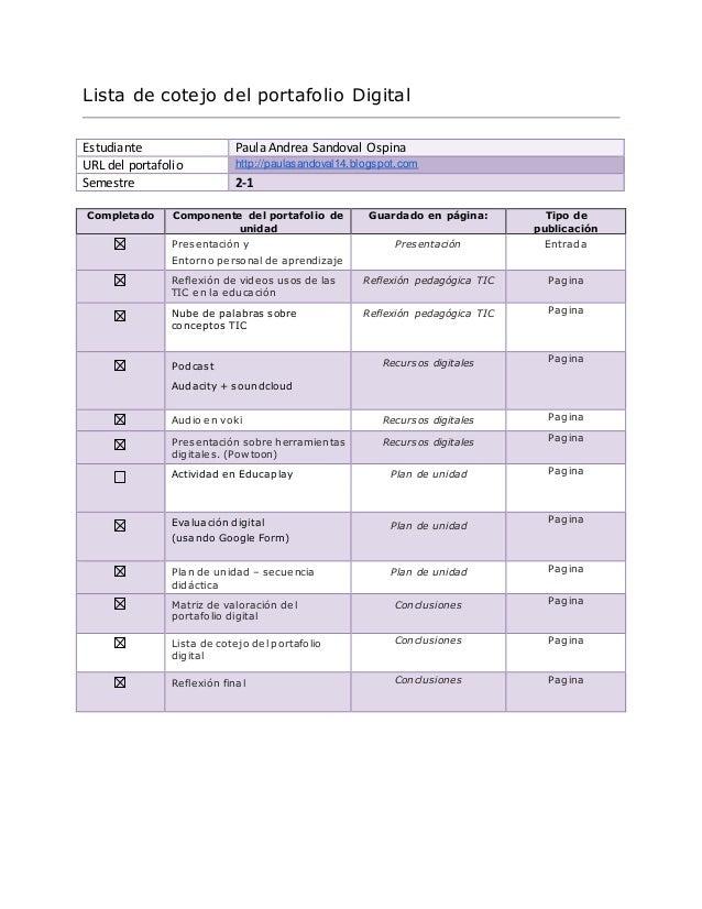Lista de cotejo pd for Lista onorevoli pd
