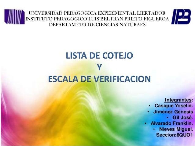 UNIVERSIDAD PEDAGOGICA EXPERIMENTAL LIERTADOR INSTITUTO PEDAGOGICO LUIS BELTRAN PRIETO FIGUEROA DEPARTAMETO DE CIENCIAS NA...