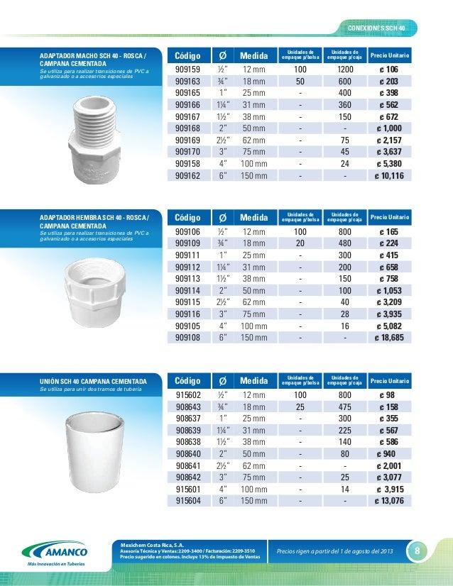 Lista de precios 01 de agosto 2013 1 - Precio tuberia polietileno ...