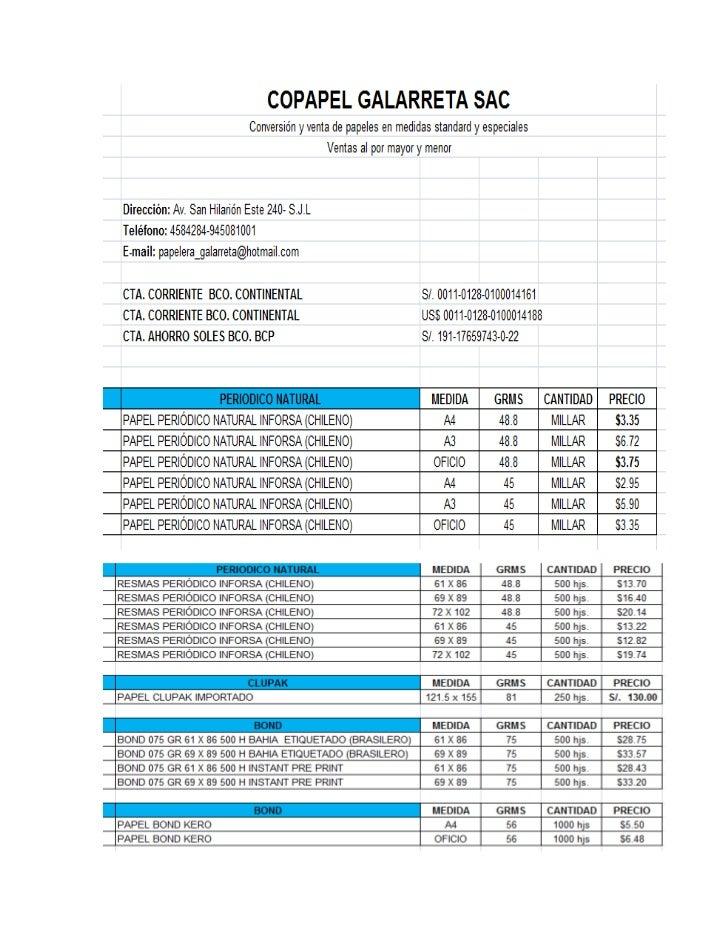Lista de precios agosto.xls