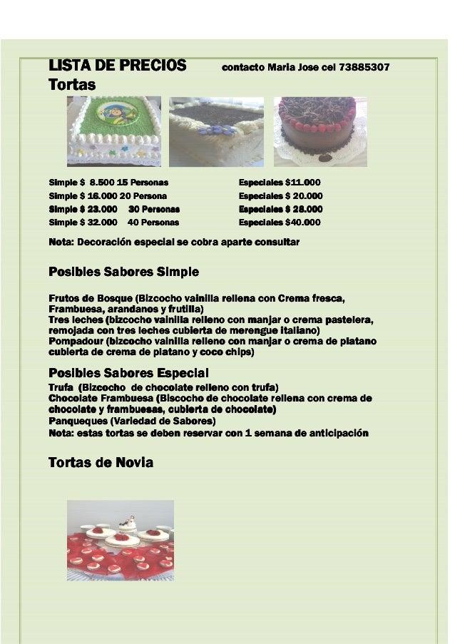 LISTA DE PRECIOSLISTA DE PRECIOSLISTA DE PRECIOSLISTA DE PRECIOS contacto Maria Jose cel 73885307contacto Maria Jose cel 7...