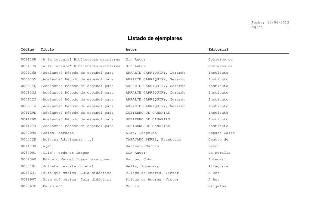 Fecha: 13/06/2012                                                                                              Página:    ...