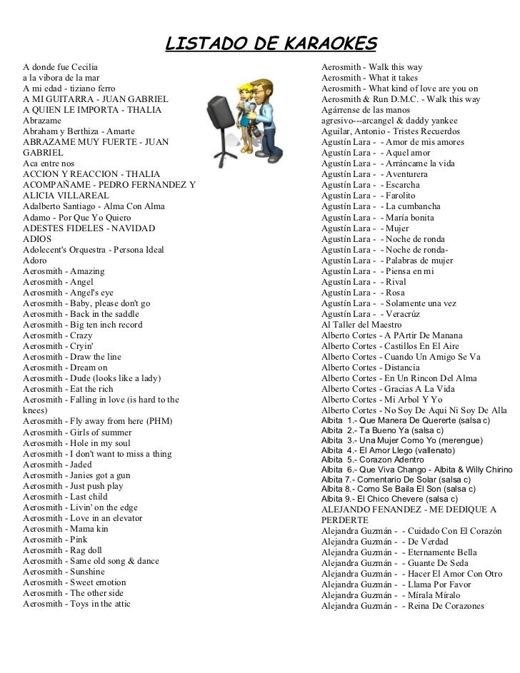 Listado karaoke 3