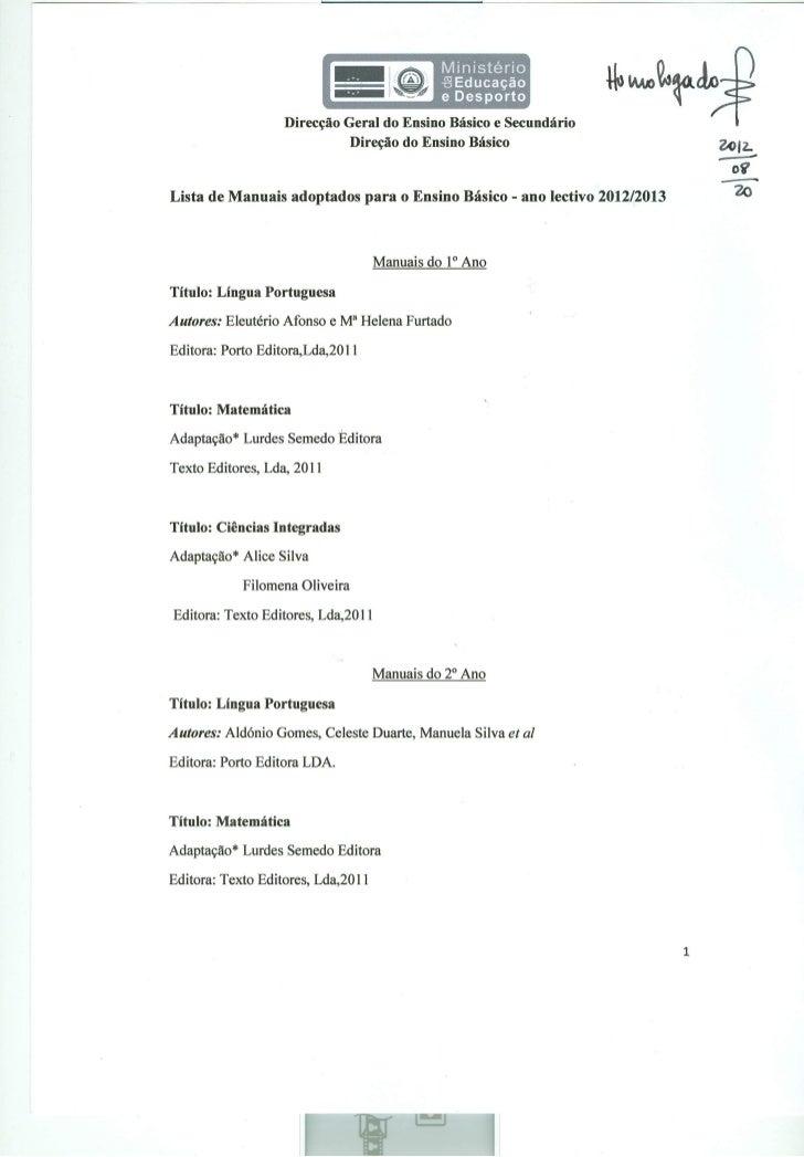 Lista dos manuais do EB- Ano L