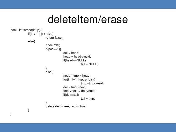 class list data structure