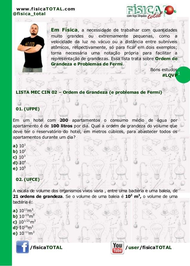 www.fisicaTOTAL.com@fisica_total                   Em Física, a necessidade de trabalhar com quantidades                  ...