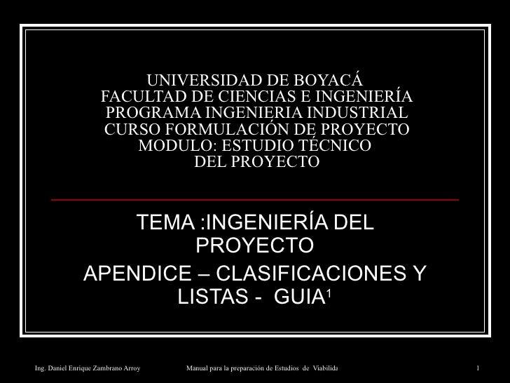 UNIVERSIDAD DE BOYACÁ  FACULTAD DE CIENCIAS E INGENIERÍA PROGRAMA INGENIERIA INDUSTRIAL CURSO FORMULACIÓN DE PROYECTO MODU...