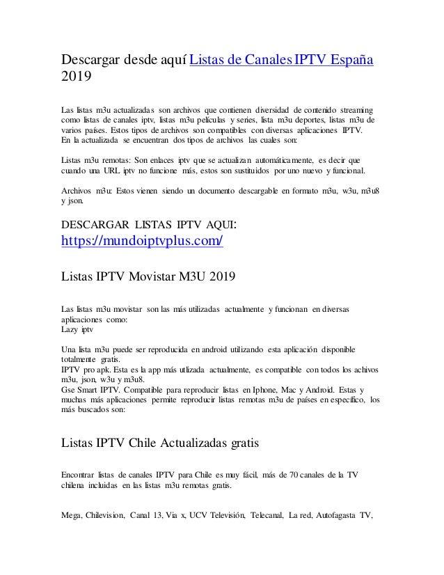 Listas iptv actualizadas 2019