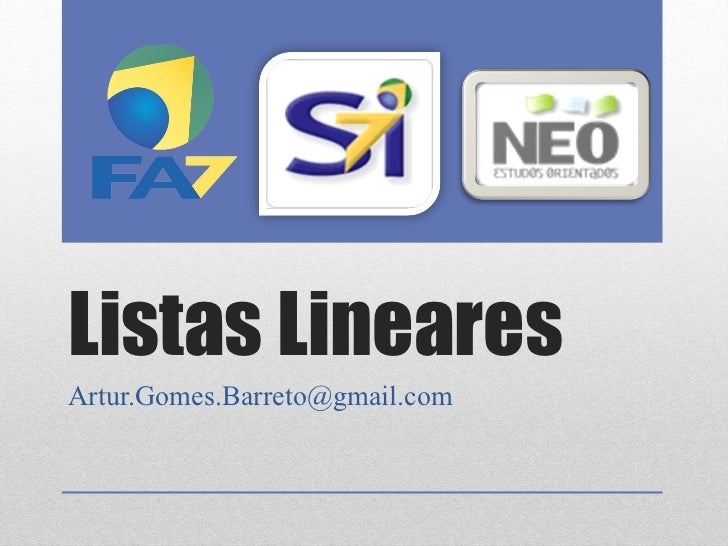 Listas Lineares [email_address]
