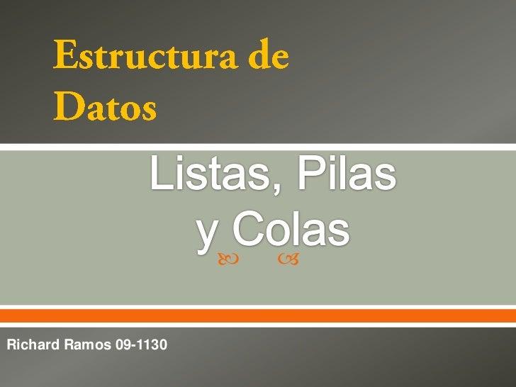    Richard Ramos 09-1130