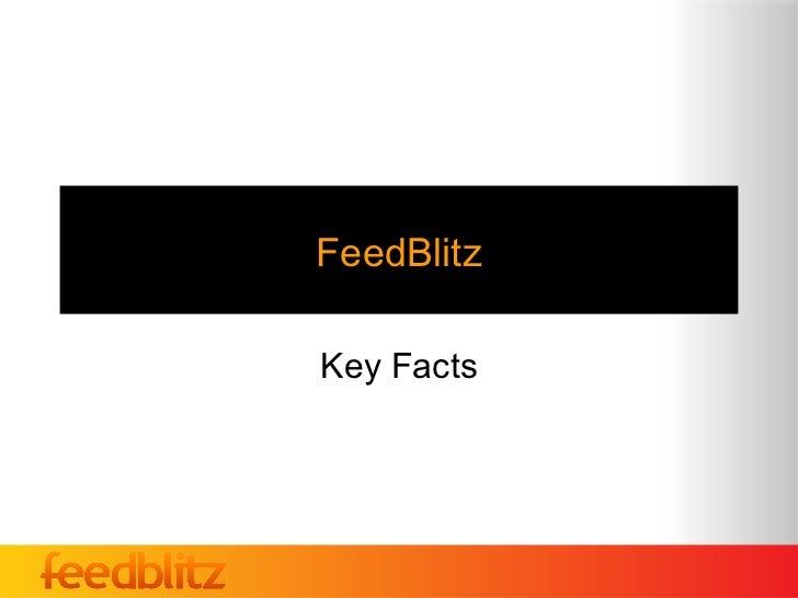 FeedBlitzKey Facts