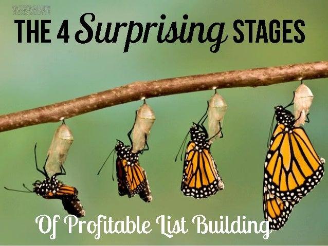 List building the 4 surprising stages of profitable list building
