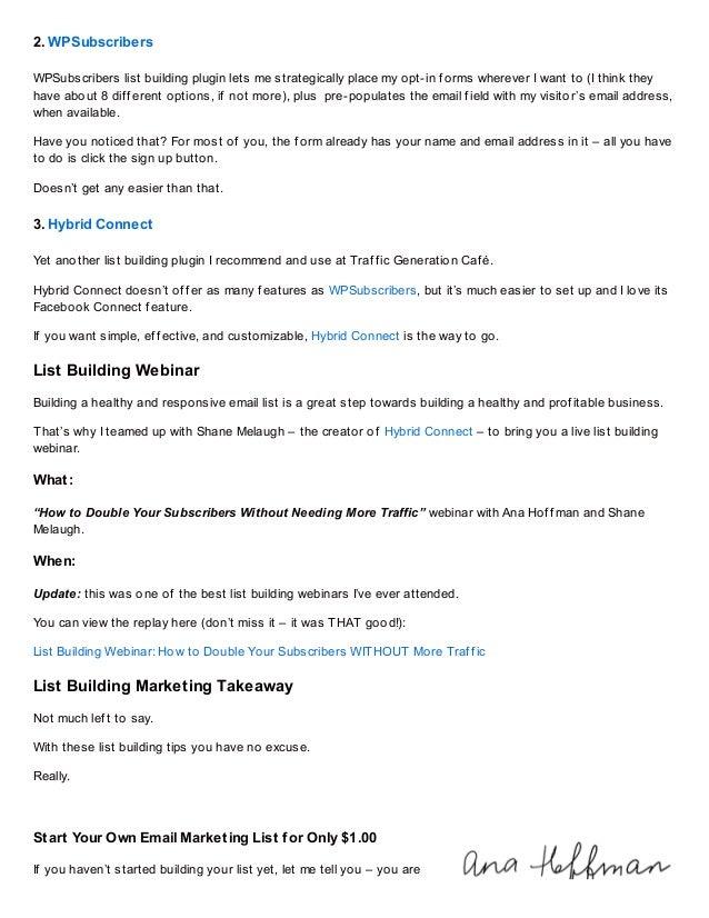 Wpsubscriberswpsubscribers List Building