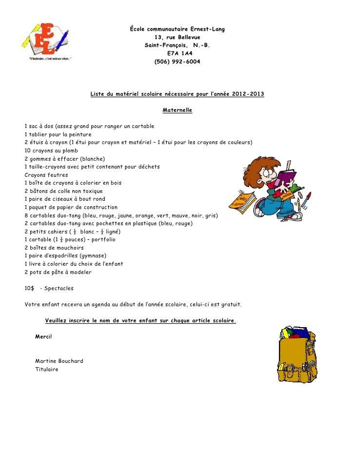 École communautaire Ernest-Lang                                                13, rue Bellevue                           ...