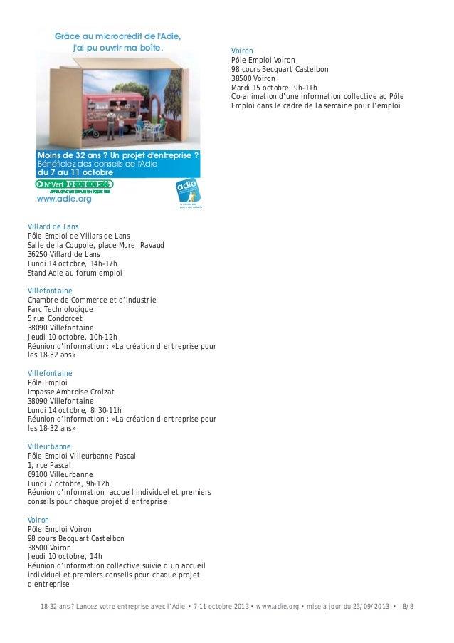 liste des v nements organis s par l 39 adie cr ation d 39 entreprise pou. Black Bedroom Furniture Sets. Home Design Ideas