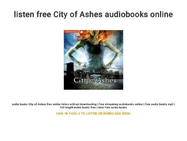 listen free City of Ashes audiobooks online