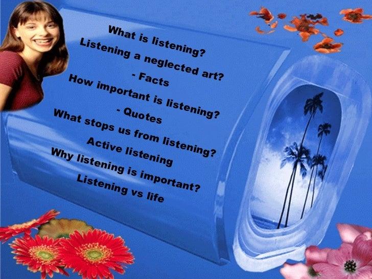 The Art of Listening Slide 3