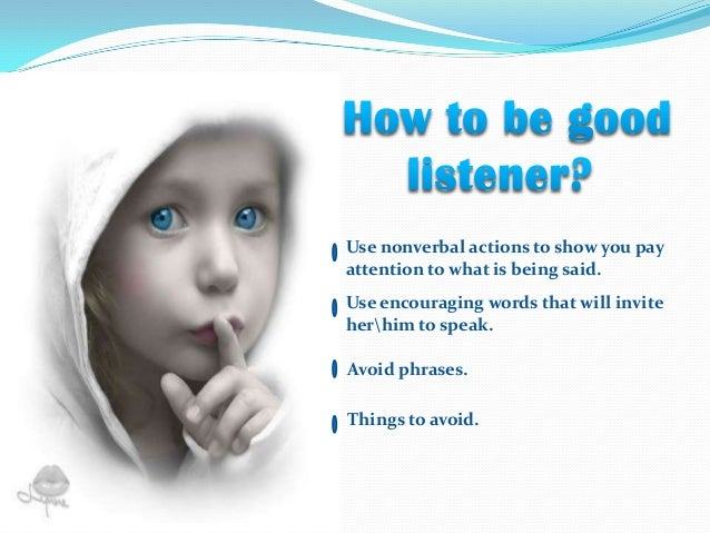 how to be good listener