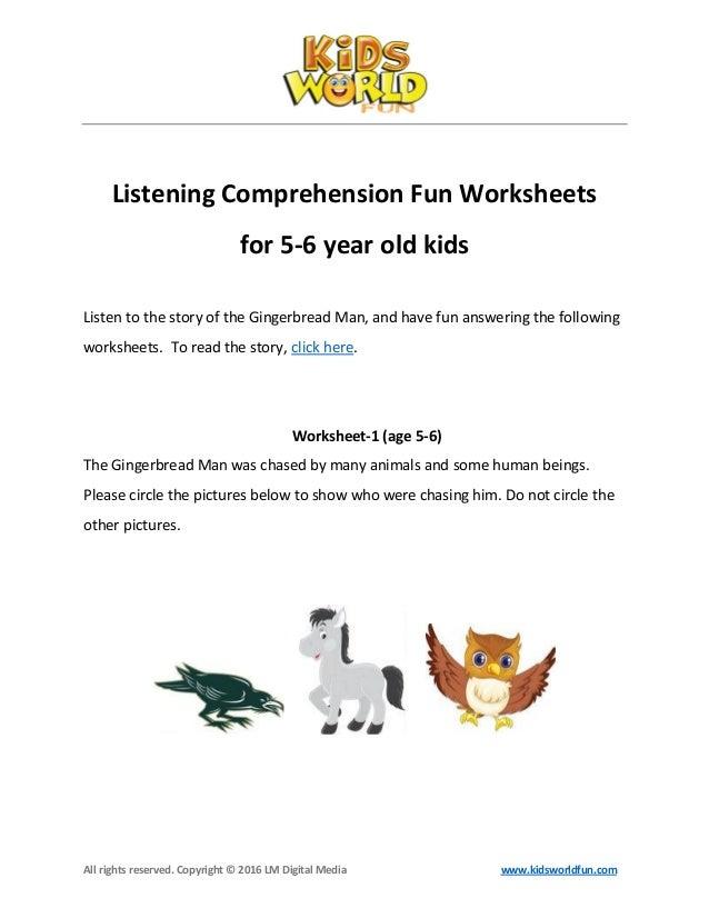 Listening comprehension-worksheet-for-5-6-year-old-kids