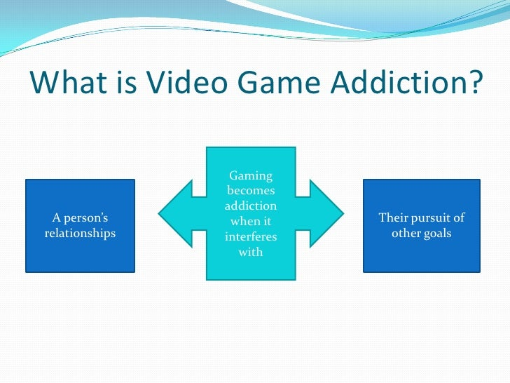 gaming addiction study essay Problem of computer game addiction,  one's self to test for online gaming addiction [2] 1)  problems with addiction one study done on the problems of.