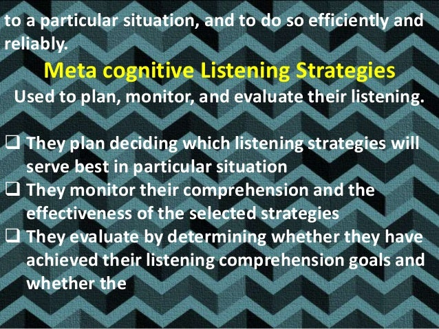 PLANNING Advanced Organization: Anticipating to the listening task , predicting , clarifying objects for listening Direc...
