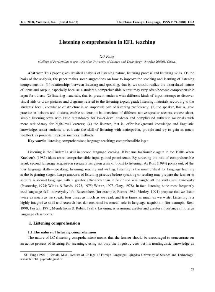 Jan. 2008, Volume 6, No.1 (Serial No.52)                            US -China Foreign Language, ISSN1539 -8080, USA       ...