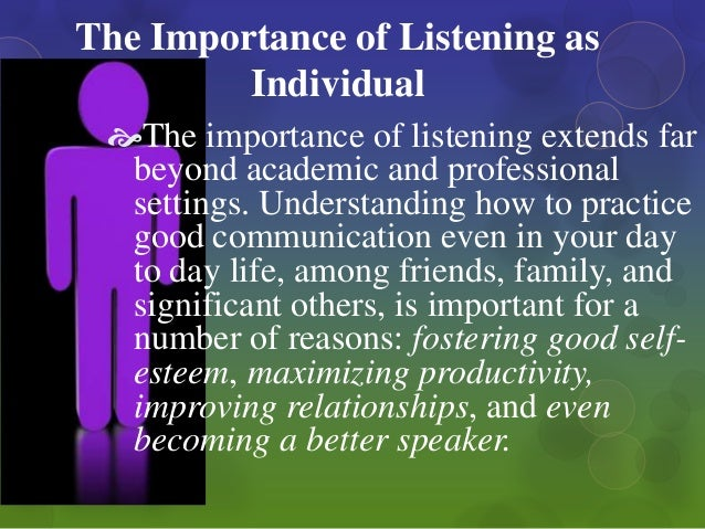 the importance of effective communications systems and good listening in organizations 1) why is it important to communicate effectively with others  exercise good  communication in the workplace by demonstrating credibility  tell your story  directly to the deeper, more primal parts of your listeners' minds  transplants  who have left their support systems behind can benefit greatly from.