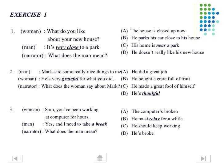 Listening Short Dialogue Skill 1 6