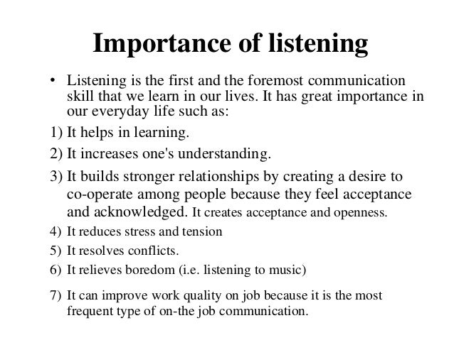 The Importance of Listening, and Ways to Improve Your Own Skills