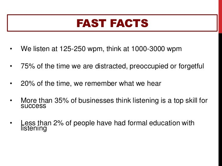 fast facts we listen at