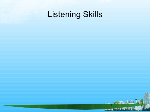 1 Listening Skills