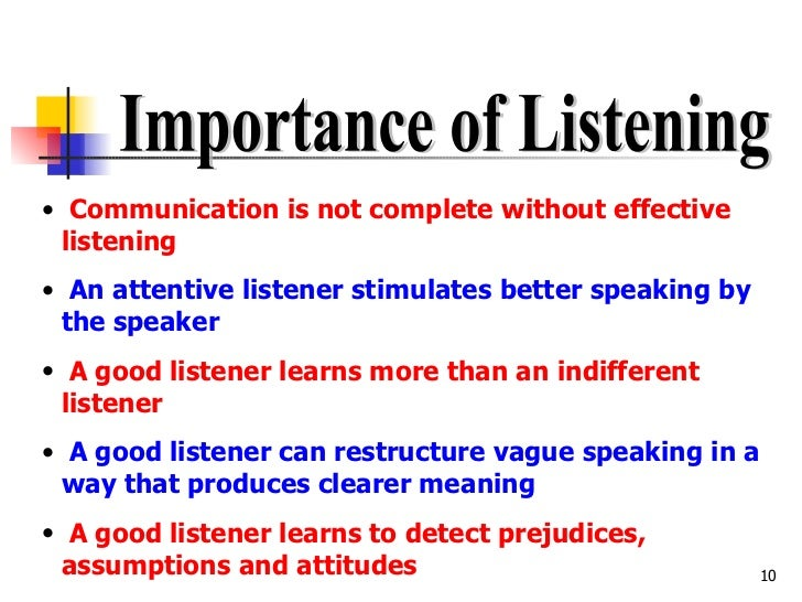 essays on the importance of listening Essays & papers importance of listening - paper example importance of listening - listening essay example importance of listening in communication:– listening is defined as applying oneself to hearing something - importance of listening introduction.