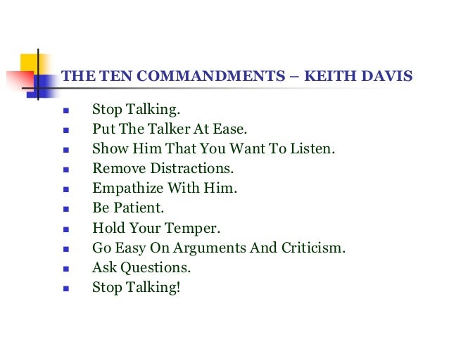 10 commandments of good listening